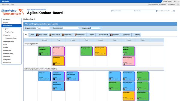 Filtern und gruppieren von Aufgaben im Projektmanagement