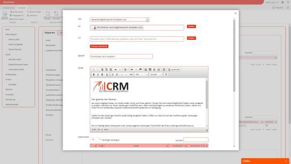 Screenshot koellisch toolkit 3.0 E-Mail Kontaktverwaltung