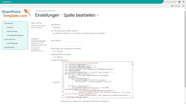 Screenshot koellisch toolkit 7.0 JavaScript