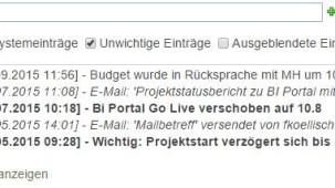 SharePoint Chronikboxspalte Notizenfeld