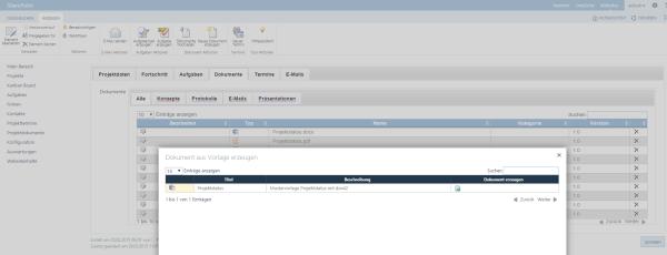 Dokumentenmanagement im SharePoint Projekt
