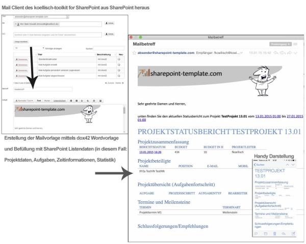 E-Mail Vorlage aus SharePoint - SharePoint-Template.com