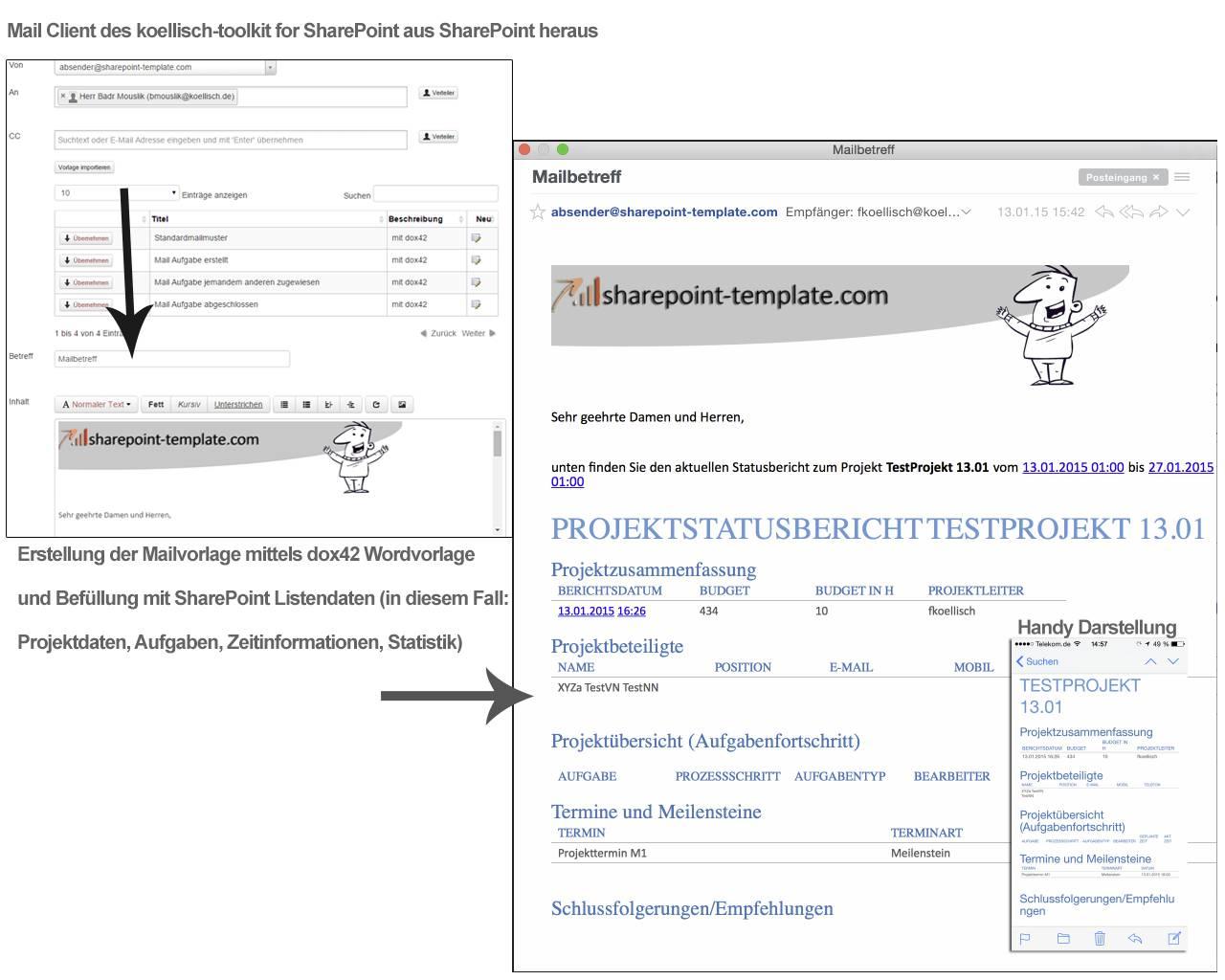 Word-, Excel-, und PDF-Dokumente direkt in SharePoint erzeugen