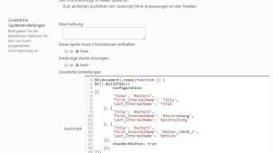 SharePoint JavaScriptspalte