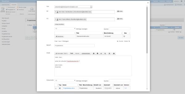 Kanban Board Mailclient in SharePoint